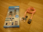 Кабель NGY-522 для iPhone 5, mini USB (Android)