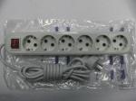 Удлинитель ALFA 6гнезд / 3метра - с заземлением и выключателем