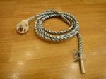 Шнур на утюг с заземлением - 2.0 м (латунь)