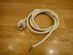 Шнур с заземлением - 2.0 м (латунь)