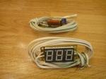 Вольтметр бытовой - с термометром (без корпуса) (АВР)