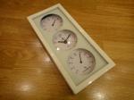 Комнатный термометр-гигрометр ALD-9041 (с часами)