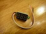 Вольтметр V20D-G (до 100V) - зелёный